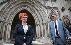 © Licensed to London News Pictures. 10/3/2017. London, UK. Food blogger Jack Monroe leaves the High Court with her solicitor Mark Lewis (R).  Jack Monroe has won £24,000 in her claim for libel damages after 'serious harm' was caused over tweets from the Daily Mail columnist Katie Hopkins - who also has to pay £24,000 in costs. Photo credit: Peter Macdiarmid/LNP