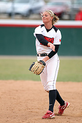 06 April 2013:   during an NCAA Division 1 Missouri Valley Conference (MVC) women's softball game between the Drake Bulldogs and the Illinois State Redbirds on Marian Kneer Field in Normal IL