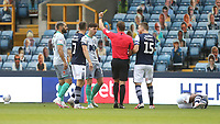 An early yellow card for Blackburn Rovers' Joseph Rankin-Costello<br /> <br /> Photographer Rob Newell/CameraSport<br /> <br /> The EFL Sky Bet Championship - Millwall v Blackburn Rovers - Tuesday July 14th 2020 - The Den - London<br /> <br /> World Copyright © 2020 CameraSport. All rights reserved. 43 Linden Ave. Countesthorpe. Leicester. England. LE8 5PG - Tel: +44 (0) 116 277 4147 - admin@camerasport.com - www.camerasport.com