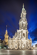 Katholische Hofkirche,(English: The Catholic Church of the Royal Court of Saxony), and since 1980 also known as Kathedrale Sanctissimae Trinitatis (English: Cathedral of the Holy Trinity) Dresden, Germany. Architect: Gaetano Chiaveri. Built: 1751