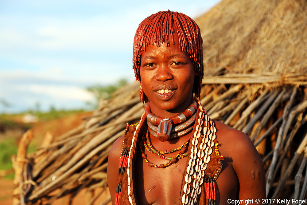 Omo Valley, Ethiopia 2017 <br /> Hamer woman.  Turmi.