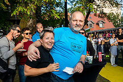 Physiotherapist Alen Lilić during Reception of Slovenian rider Luka Mezgec after  he finished his first Tour de France 2020 and placed second at 2 stages, on September 21, 2020 in Joze Plecnik garden, Ljubljana, Slovenia. Photo by Vid Ponikvar / Sportida
