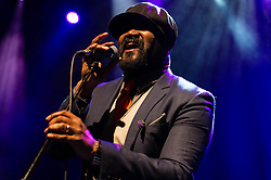 © Licensed to London News Pictures. 19/03/2014. London, UK.   Gregory Porter performing live at Shepherds Bush Empire. Gregory Porter is a Grammy Award winning American jazz vocalist, songwriter, and actor. Gregory Porter won the 2014 Grammy for best jazz vocal album, Liquid Spirit.Photo credit : Richard Isaac/LNP
