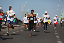 November 10, 2017 - Gaza, gaza strip, Palestine - Palestinian youths participate in a ''national unity marathon'' organised by the Palestine Athletic Federation to support national reconciliation, in Gaza City on November 10, 2017. (Credit Image: © Majdi Fathi/NurPhoto via ZUMA Press)
