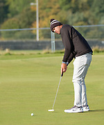 2nd October 2018, The Old Course, St Andrews, Scotland; Alfred Dunhill Links Championship, practice day; Tony Finau of the USA putts on the second green during a practice round at the Dunhill Links Championship on The Old Course, St Andrews