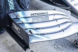 February 18, 2019 - Barcelona, Barcelona, Spain - Detail of Mercedes AMG Petronas Motorsport W10 front wing during the Formula 1 2019 Pre-Season Tests at Circuit de Barcelona - Catalunya in Montmelo, Spain on February 18. (Credit Image: © Xavier Bonilla/NurPhoto via ZUMA Press)