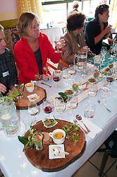 New Zealand, South Island, Nelson, food and wine pairings at Seifried Estate winery prepared by Chef Horst of Petite Fleur restaurant. Photo copyright Lee Foster. Photo #126041