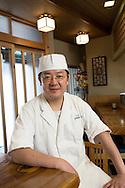 Masatoshi Yoshino, at his restaurant Yoshino Sushi Honten, Tokyo, Japan