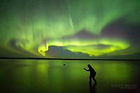 Northern lights over Ennadai Lake, Nunavut, Canada