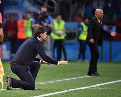 NIZHNY NOVGOROD, June 21, 2018  Croatia's head coach Zlatko Dalic (L) reacts during the 2018 FIFA World Cup Group D match between Argentina and Croatia in Nizhny Novgorod, Russia, June 21, 2018. (Credit Image: © Li Ga/Xinhua via ZUMA Wire)