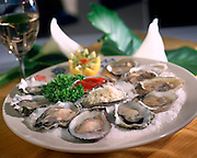 Oysters On The Half Shell With Wine