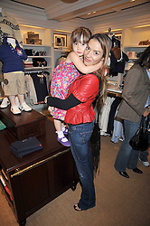 ELEN RIVES and her daughter ISLA LAMPARD at 'Paint Your Polo Celebration' a children's party in aid of the charity Clic Sargent held at Ralph Lauren, 139/141 Fulham Road, London on 28th April 2009.
