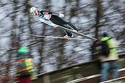 November 19, 2017 - Wisla, Poland - Johann Andre Forfang (NOR), competes in the individual competition during the FIS Ski Jumping World Cup on November 19, 2017 in Wisla, Poland. (Credit Image: © Foto Olimpik/NurPhoto via ZUMA Press)