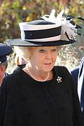 Koningin Beatrix luncht met de president van Slowakije Ivan Gasparovic in het Van Abbe Museum.<br /> <br /> Queen Beatrix lunch with the President of Slovakia Ivan Gasparovic in the Van Abbe Museum.<br /> <br /> On the photo / Op de foto:  Koningin Beatrix komt aan bij het museum.