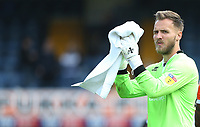 Blackpool's Jak Alnwick applauds the Blackpool fans at the end of the game<br /> <br /> Photographer Rob Newell/CameraSport<br /> <br /> The EFL Sky Bet Championship - Southend United v Blackpool - Saturday 10th August 2019 - Roots Hall - Southend<br /> <br /> World Copyright © 2019 CameraSport. All rights reserved. 43 Linden Ave. Countesthorpe. Leicester. England. LE8 5PG - Tel: +44 (0) 116 277 4147 - admin@camerasport.com - www.camerasport.com