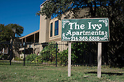 The Ivy Apartments where Thomas E. Duncan was staying in Dallas, Texas on November 7, 2014.  (Cooper Neill for The New York Times)