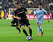 LAFC forward Christian Ramirez (21) during a MLS soccer match against the Sporting KC in Los Angeles, Sunday, March 3, 2019. LAFC defeated Sporting KC, 2-1. (Ed Ruvalcaba/Image of Sport)