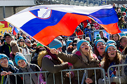 Supporters during the Ski Flying Hill Individual Qualification at Day 1 of FIS Ski Jumping World Cup Final 2018, on March 22, 2018 in Planica, Ratece, Slovenia. Photo by Urban Urbanc / Sportida