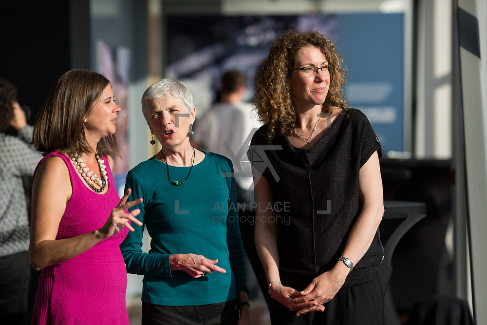 19.06. 2017.                                             <br /> University of Limerick hosts the 5th Global Conference on Transparency Research.<br />  Attending the launch of the event in King Johns Castle were, Cori Zarek, Mozilla, Patrice McDermott, Government Information Watch and Suzanne Piotrowski, Rutgers University. Picture: Alan Place