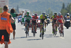 October 13, 2017 - Marmaris, Turkey - A breakaway group of six riders during the fourth stage - the 204.1 km Turkish Airlines Marmaris to Selcuk stage of the 53rd Presidential Cycling Tour of Turkey 2017..On Friday, 13 October 2017, in Marmaris, Turkey. (Credit Image: © Artur Widak/NurPhoto via ZUMA Press)