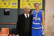 DESCRIZIONE : Parma Palaciti Nazionale Italia femminile Basket Parma<br /> GIOCATORE :  Marco Gatta Sabrina Cinili<br /> CATEGORIA : ritratto<br /> SQUADRA : Italia femminile<br /> EVENTO : amichevole<br /> GARA : Italia femminile Basket Parma<br /> DATA : 13/11/2012<br /> SPORT : Pallacanestro <br /> AUTORE : Agenzia Ciamillo-Castoria/ GiulioCiamillo<br /> Galleria : Lega Basket A 2012-2013 <br /> Fotonotizia :  Parma Palaciti Nazionale Italia femminile Basket Parma<br /> Predefinita :