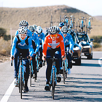 Katrine Aalerud, Emma Norsgaard. 2021 Movistar Team Training Camp, Almería. 10.1.2021.