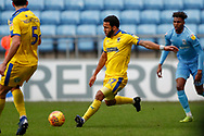 Wimbledon midfielder Andy Barcham (17) in action  during the EFL Sky Bet League 1 match between Coventry City and AFC Wimbledon at the Ricoh Arena, Coventry, England on 12 January 2019.