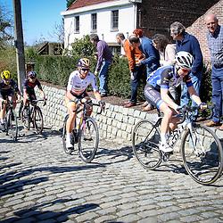 03-04-2016: Wielrennen: Ronde van Vlaanderen vrouwen: Oudenaarde  <br /> OUDENAARDE (BEL) cycling  The sixth race in the UCI Womensworldtour is the ronde van Vlaanderen. A race over the famous Flemish climbs. On the Molenberg Lauren Kitchen, Chantal Blaak