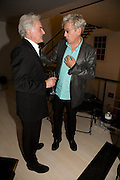 RICHARD EYRE AND SIR IAN MCKELLEN, These Foolish Things, charity evening hosted by Sir Richard and Lady Rogers. Chelsea. London. 7 May 2008.  *** Local Caption *** -DO NOT ARCHIVE-© Copyright Photograph by Dafydd Jones. 248 Clapham Rd. London SW9 0PZ. Tel 0207 820 0771. www.dafjones.com.