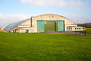Aircraft hangar at former RAF Wroughton site, near Swindon, Wiltshire, England, UK used as a storage facility for the largest objects of the National Museum of Science and Industry.