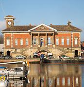 Historic Custom House building, Ipswich Wet Dock waterside redevelopment, Ipswich, Suffolk, England, Uk