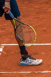 June 1, 2018 - Paris, Ile-de-France, France - Matteo Berrettini of Italy broke his racket  during the third round at Roland Garros Grand Slam Tournament - Day 6 on June 01, 2018 in Paris, France. (Credit Image: © Robert Szaniszlo/NurPhoto via ZUMA Press)