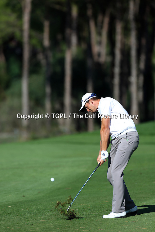 Henrik STENSON (SWE) during second round Turkish Airlines Open by Ministry of Culture and Tourism 2013,Montgomerie Course at Maxx Royal,Belek,Antalya,Turkey.