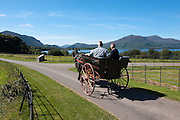 A jaunting car passes by Lough Lein, Killarney's Lower Lake on a trip around the Muckross Demesne in Killarney National Park..Picture by Don MacMonagle