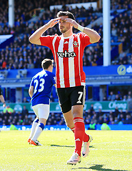 Shane Long of Southampton rues a missed chance - Mandatory by-line: Matt McNulty/JMP - 16/04/2016 - FOOTBALL - Goodison Park - Liverpool, England - Everton v Southampton - Barclays Premier League