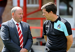 Cheltenham Town manager, Gary Johnson and Bristol Rovers manager, Darrell Clarke  - Mandatory by-line: Neil Brookman/JMP - 25/07/2015 - SPORT - FOOTBALL - Cheltenham Town,England - Whaddon Road - Cheltenham Town v Bristol Rovers - Pre-Season Friendly