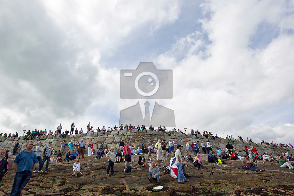 Just some of the 200,000 spectators that lined the east coast from Houth to Bray to view the Tall Ships in the Parade of Sail to mark the end of the Dublin Tall Ships Festival. Pic Andres Poveda
