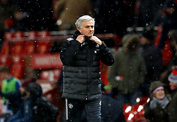 Manchester United manager Jose Mourinho after the Emirates FA Cup, quarter final match at Old Trafford, Manchester.