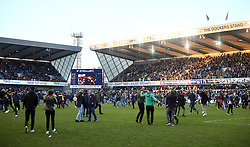 18 February 2017 - FA Cup, Fifth Round - Millwall v Leicester City<br /> A general view (gv) of The Den as fans invade the pitch<br /> Photo: Charlotte Wilson