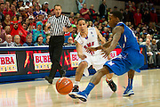 DALLAS, TX - FEBRUARY 01: Nic Moore #11 of the SMU Mustangs passes the ball to the post against the Memphis Tigers on February 1, 2014 at Moody Coliseum in Dallas, Texas.  (Photo by Cooper Neill/Getty Images) *** Local Caption *** Nic Moore