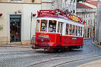 Portugal, Lisbonne, quartier de Baixa pombalin, tramway // Portugal, Lisbon, tram Baixa pombalin