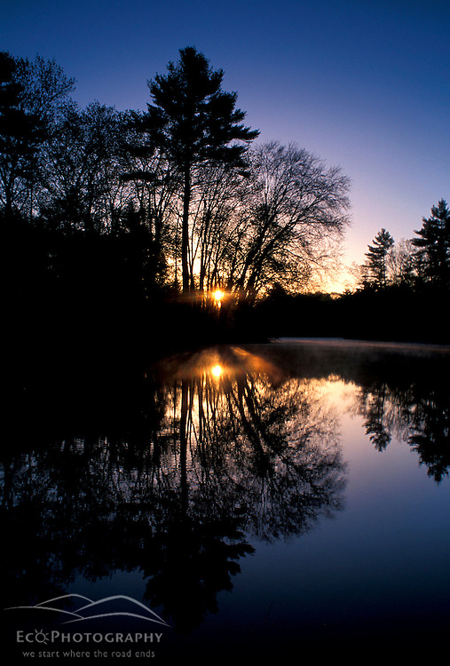 Dawn at the Nature Conservancy's new preserve on the Lamprey River below Packer's Falls.  National Wild and Scenic River.  Durham, NH