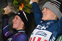 February 10, 2018 - Lille, BELGIUM - US Katie Compton pictured on the podium after the women's elite race of the Krawatencross cyclocross in Lille, the eighth and last stage in the DVV Verzekeringen Trofee Cyclocross competition, Saturday 10 February 2018. BELGA PHOTO DAVID STOCKMAN (Credit Image: © David Stockman/Belga via ZUMA Press)