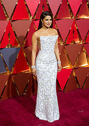 LOS ANGELES, Feb. 27, 2017  Actress Priyanka Chopra arrives for the red carpet of the 89th Academy Awards at the Dolby Theater in Los Angeles, the United States, on Feb. 26, 2017.  gj) (Credit Image: © Xinhua via ZUMA Wire)