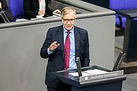 11 FEB 2021, BERLIN/GERMANY:<br /> Dietmar Bartsch, MdB, Die Linke Fraktionsvorsitzender, haelt eine Rede, Debatte nach der  Regierungserklaerung der Bundeskanzlerin zur Bewaeltigung der Corvid-19-Pandemie, Plenum, Reichstagsgebaeude, Deutscher Bundestag<br /> IMAGE: 20210211-01-097<br /> KEYWORDS: Corona