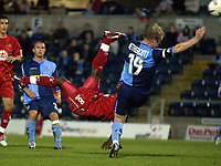 Picture: Henry Browne.Digitalsport<br /> Date: 24/08/2004.<br /> Wycombe Wanderers v Bristol City Carling Cup First Round.<br /> <br /> Leroy Lita tries an overhead kick, but it is saved by the Wycombe Keeper.