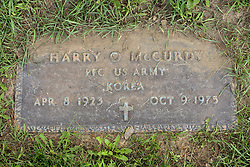 31 August 2017:   Veterans graves in Park Hill Cemetery in eastern McLean County.<br /> <br /> Harry O McCurdy  Private First Class US Army  Korea  Apr 8 1923  Oc 9 1975