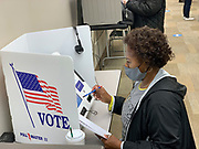 At the Montgomery County Board of Elections early voting site, all voters were provided their own stylus to use when casting their vote on the touch screen voting machine.