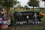 WEST, TEXAS - APRIL 14:  The grave of volunteer fireman Jimmy Ray Matus who was killed in the 2013 fertilizer plant explosion in West, Texas on April 18, 2017. (Photo by Cooper Neill for The Washington Post)