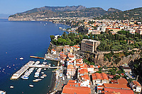 GV, general view, Sorrento, Italy, from rooftop restaurant, Hotel Bristol, September, 2015, 201509161568<br />